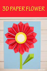 3d Paper Flower Craft For Mothers Day