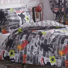 tricks skateboard and graffiti single bedding
