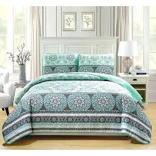grey and white quilt aqua blue grey white queen bedspread set fl medallion themed grey white yellow bedding gray and white quilt patterns