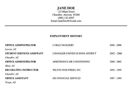 Resume Employment History