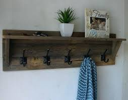 Entryway Shelf And Coat Rack Coat Rack Shelves Rustic Entryway Shelf And Coat Rack Weathered Gray 67
