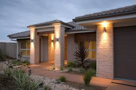 new home lighting. A New Home With Attractive Outdoor Lighting. Lighting