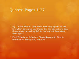 Night By Elie Wiesel Quotes Interesting Fire Symbol From The Novella Night Ppt Download