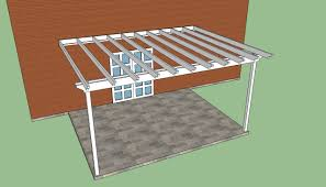 attached pergola plans pdf