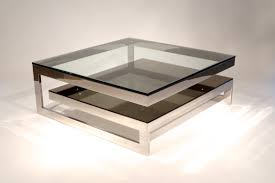 Decorations Awesome Glass Coffee Tables Wit Stone Base For