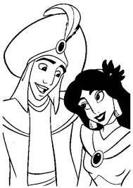 Aladdin And Jasmine Wedding Coloring Pages