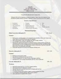 Free Carpenter Resume Templates Best of Resume Template Builder Templates Carpenter Resume Examples Samples
