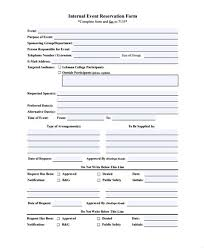 Booking Form Template Free - Costumepartyrun