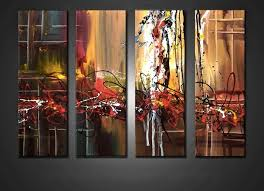 oil paintings canvas wall decor 139 99 4 piece canvas wall art living room multi panel canvas colorful artwork abstract on large art oil painting wall decor canvas with 4 piece large pictures colorful abstract multi panel art oil