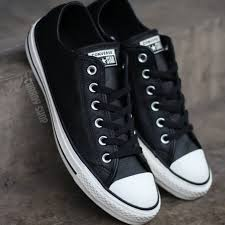 converse chuck taylor all star ox leather black white