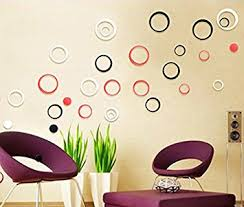 Small Picture Buy WOW Acrylic 3D Bright Circle Black Red White Home and Office