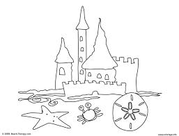 Coloriage Chateau De Sable Plage Facile 119 Dessin