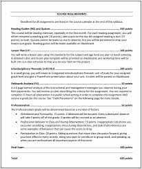 college syllabus template how to write a syllabus cult of pedagogy