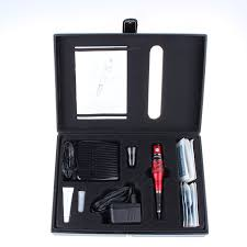red color with pedal switch dragon permanent makeup machine kit for makeup pen tattoo eyebrow free