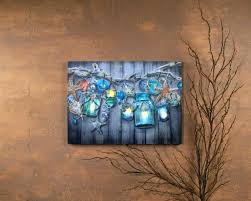 lighted canvas art clever design ideas wall together with impressive picture seaside collection timer beach