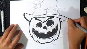 Comment Dessiner Une Citrouille D Halloween Graffiti Youtube