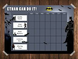 Batman Behavior Chart Batman Toddler Reward Chart Behaviour Chart Chore Chart