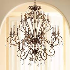acanthus and crystal 68 wide bronze chandelier v5107 lamps plus