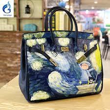 800x800 hand painted leather handbags brand women genuine handbag handbag painting