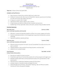 excel spreadsheet skills resume