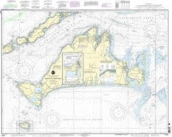 Frazzleberries Com Marthas Vineyard Noaa 13233 Mounted Chart Map