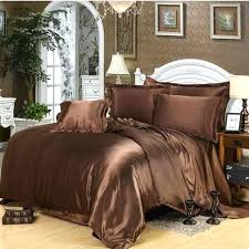 brown duvet covers sets soft silky bedding sets luxury 4 imitated silk bed linen set solid brown duvet covers sets
