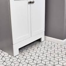 white porcelain tile floor. Shop SomerTile 10.5x12.125-inch Victorian Rhombus Matte White Porcelain  Mosaic Floor And Wall Tile (10 Tiles/9.04 Sqft. White Porcelain Tile Floor C