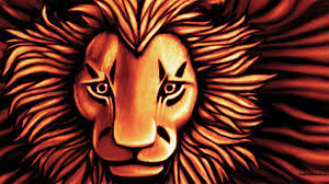 african lion digital painting
