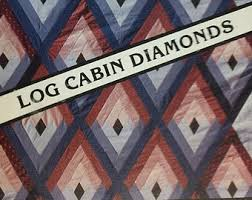 Log cabin diamonds | Etsy & Starmakers Ablaze - Log Cabin Diamonds by Kaye Wood vintage 1980s softcover  spiral bound quilting pattern Adamdwight.com
