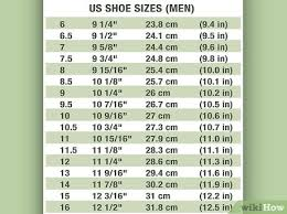 Shoe Width Chart 4e How To Determine Shoe Width 13 Steps With Pictures Wikihow