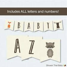 Welcome Printable Banner Letters Baby Shower Midcitywest Info
