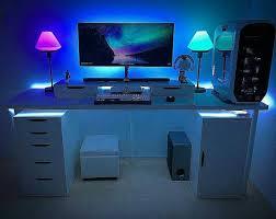 desk led lighting. sarz_92263 got a new desk painted the room carpet some lamps led lighting b