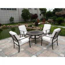 beautiful fire pit table chairs amir royalcraft versailles cast aluminium firepit table 4