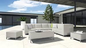 Contemporary Patio Furniture Modern Patio Light Grey Sectional Sofa Set