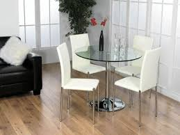 Round Kitchen Tables For 4 Small Round Glass Dining Table And Chairs Lilac Design