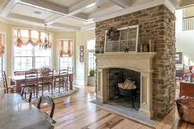 flagstone fireplace pictures amazing fireplace design in the dining room complete with traditional wooden dining table