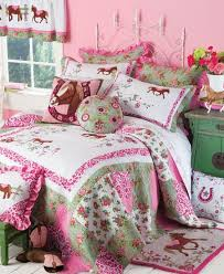 Girls Horse Theme Bedding And Room Decor Like A Breath Of Fresh Air This  New Quilted
