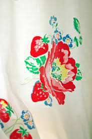 Strawberry Kitchen Curtains A Sort Of Fairytale I Never Met A Strawberry I Didnt Like