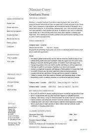 Student Resume Dayjob Graduate Nursing Resume New Grad Nurse Resume New Grad Nursing