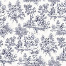 Bolcom Origin Behang Toile De Jouy Print Delfts Blauw 326114