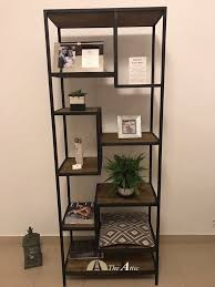 industrial metal and wood furniture. Staggered Shelf Made Of Recyled Pine Wood #furniture #upcycle #metal # Industrial Metal And Furniture