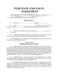 sales contracts sample free printable sale agreement form form generic