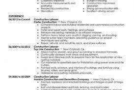 General Labor Resume Examples No Experience Sample Skills Job ...