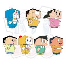 Mô hình giấy Doraemon và những người bạn - Kit168.vn Shop Online mô hình  giấy