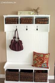 Hall Coat Rack Bench Wonderful How To Build An Entry Bench With Cubbies And Hooks Part 53