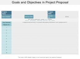 Project Proposal Presentation Goals And Objectives In Project Proposal Ppt Powerpoint