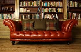 st edmund vintage brown leather sofa