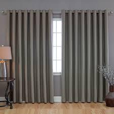 Image of: Plain Sliding Door Curtains
