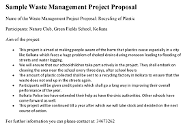 Waste Management Project Proposal
