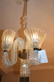 1940 s italian murano glass 3 light chandelier attributed to barovier